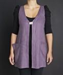 Heart-neck blouse