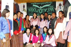 Ashi Sangay Choden Wangchuck with our class in Thimphu