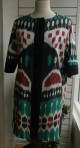 Ikat coat in 100% handwowen silk